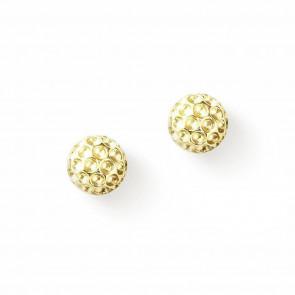Golf Goddess Golf Ball Earrings - Gold