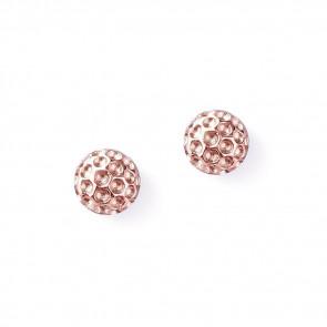 Golf Goddess Golf Ball Earrings - Rose Gold